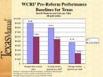 wcri 1 pre reform performance baselines for texas1