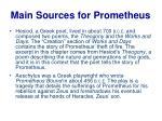 main sources for prometheus