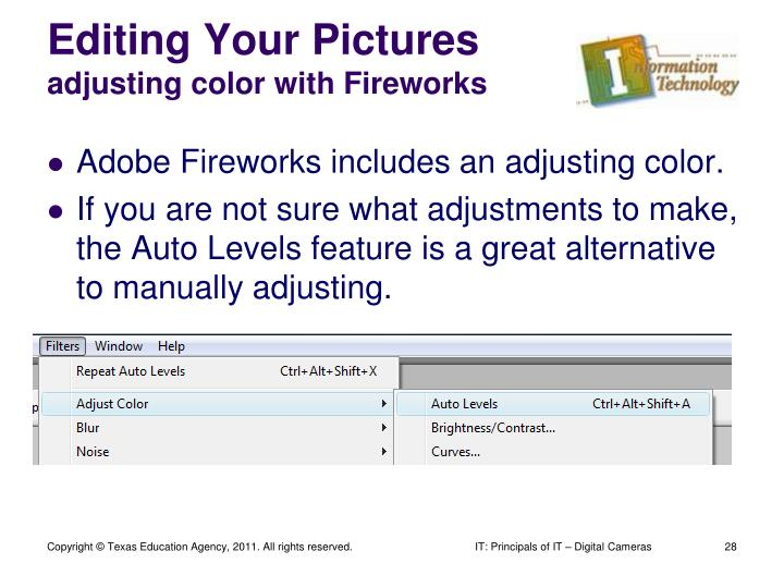 Editing Your Pictures