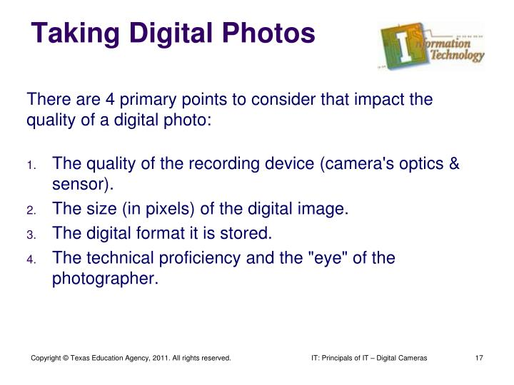 Taking Digital Photos