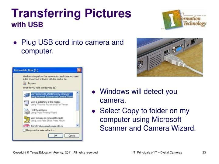 Transferring Pictures