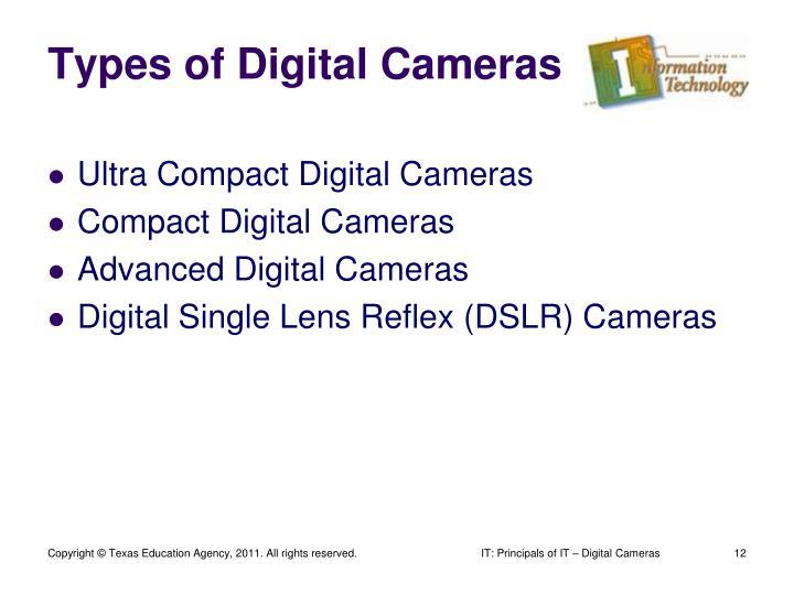 Types of Digital Cameras