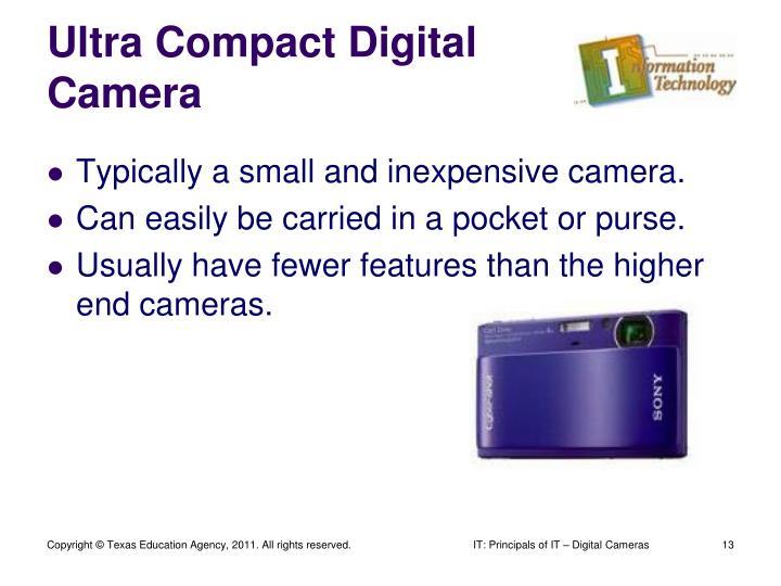 Ultra Compact Digital Camera
