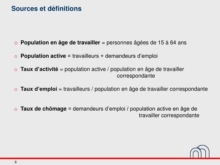 Sources et définitions