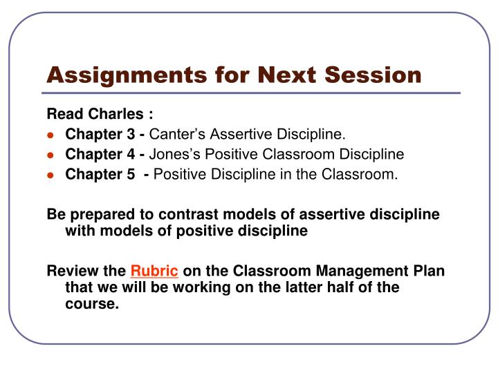 Assignments for Next Session