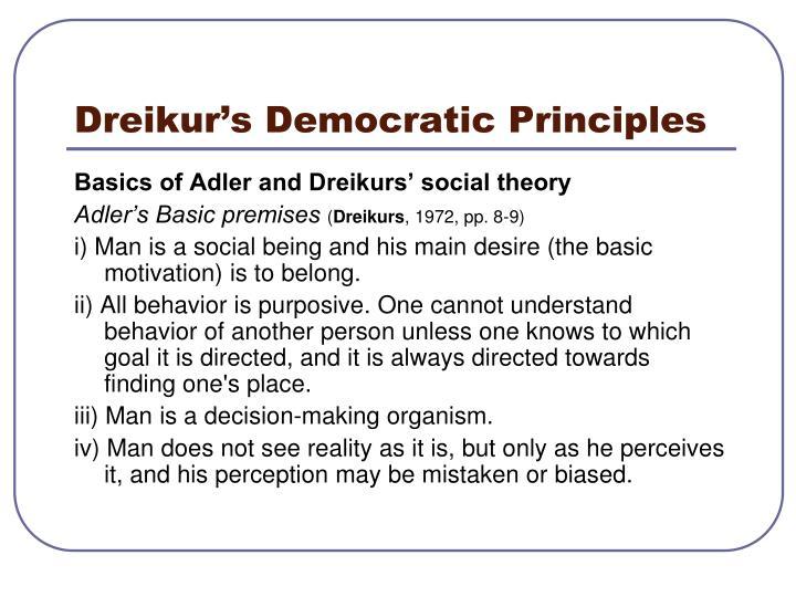 Dreikur's Democratic Principles