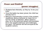 power and control power struggles