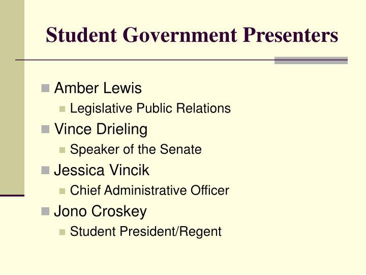 Student Government Presenters