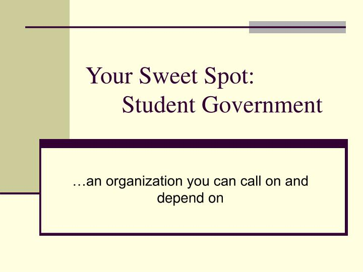 Your Sweet Spot:
