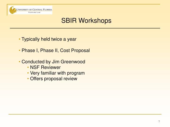 SBIR Workshops