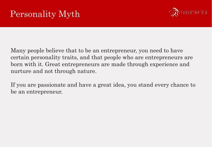 Personality Myth