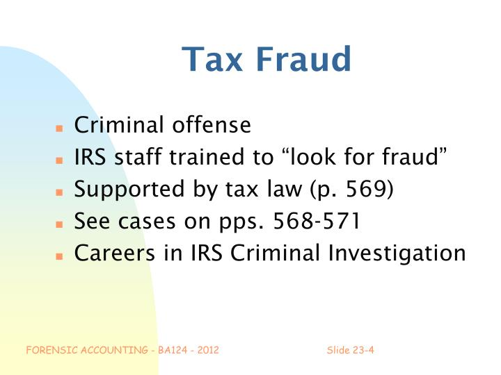 Tax Fraud