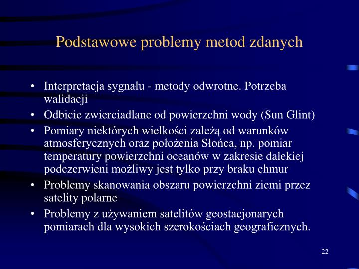 Podstawowe problemy metod zdanych