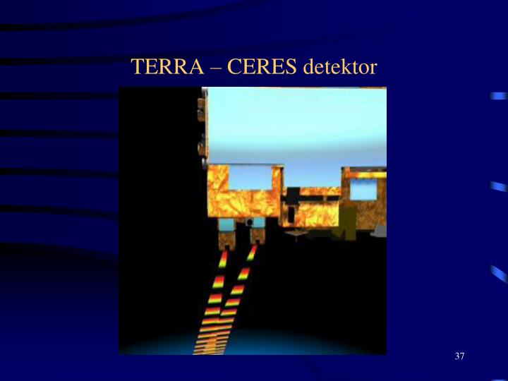 TERRA – CERES detektor