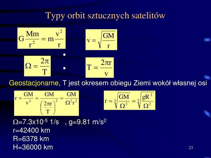 Typy orbit sztucznych satelitów
