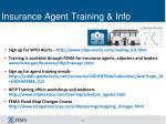 insurance agent training info
