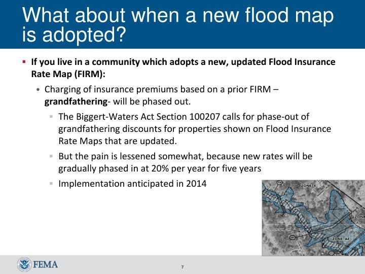 What about when a new flood map is adopted?