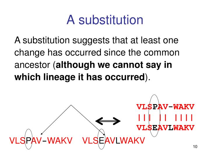 A substitution