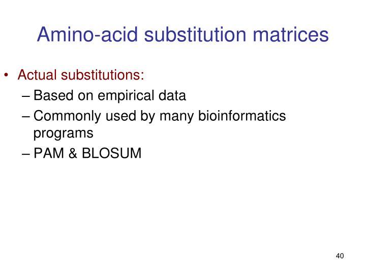Amino-acid substitution matrices