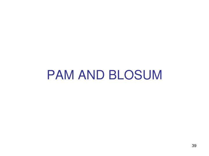 PAM AND BLOSUM