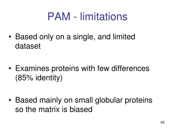 PAM - limitations