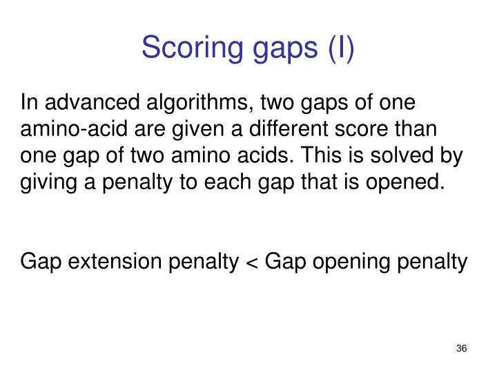 Scoring gaps (I)