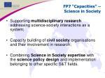 fp7 capacities science in society