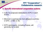 fp7 cooperation collaborative research1