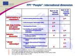 fp7 people international dimension