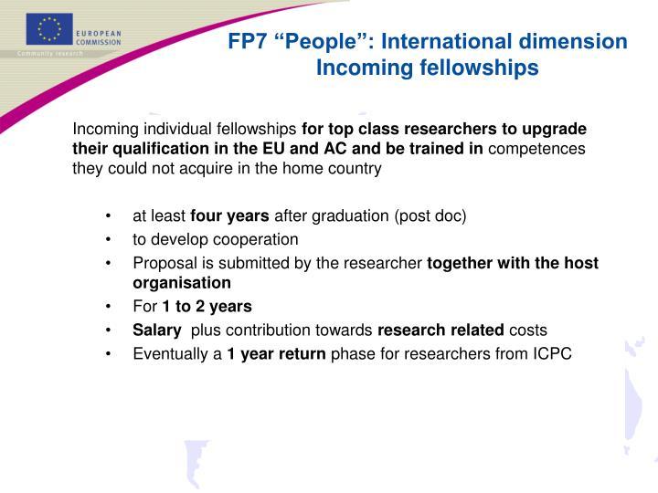 Incoming individual fellowships