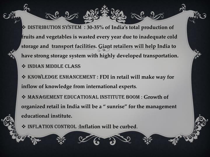 DISTRIBUTION SYSTEM  :