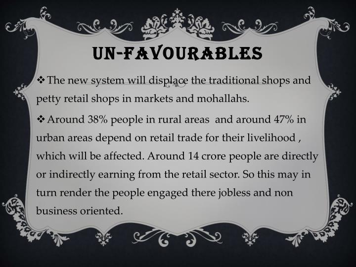 UN-FAVOURABLES