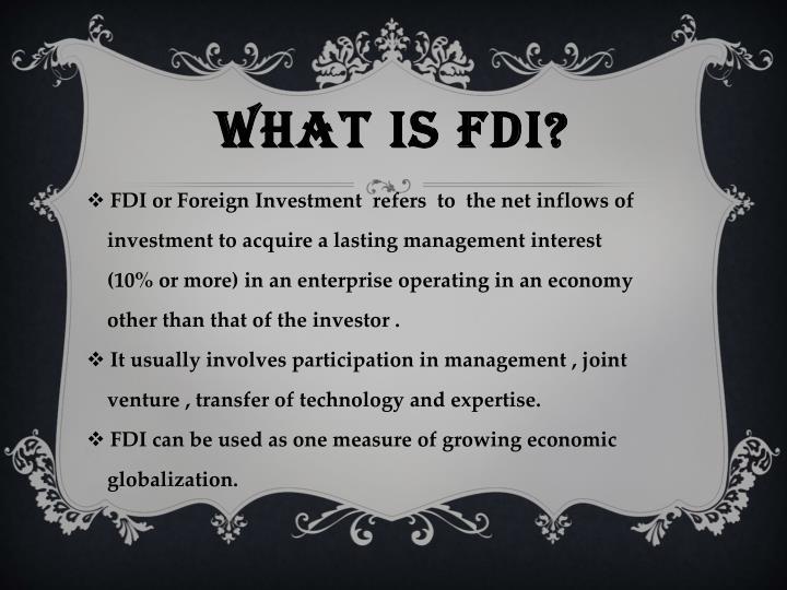 What Is FDI?