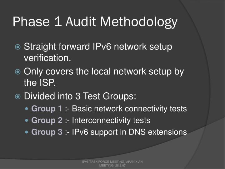 Phase 1 Audit Methodology
