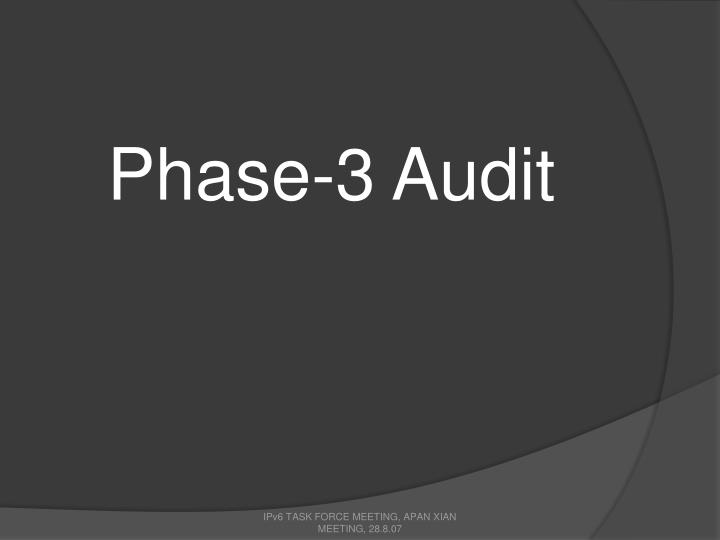 Phase-3 Audit