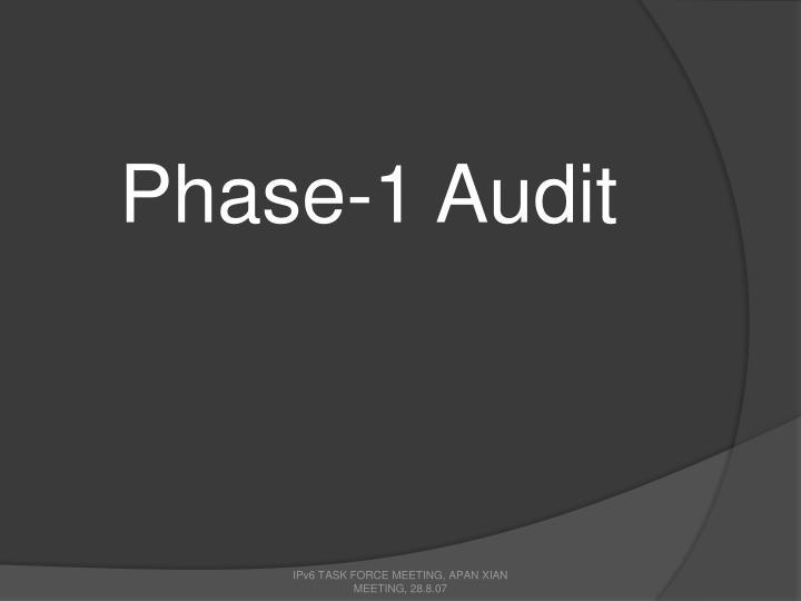 Phase-1 Audit