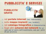 pubblicita e servizi