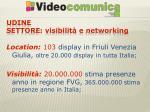 udine settore visibilit e networking