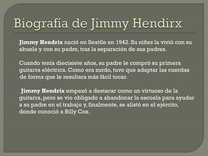 Biografía de Jimmy