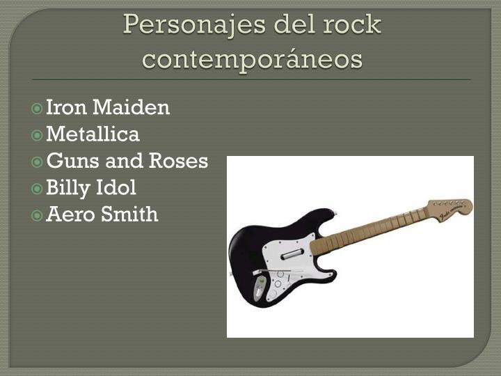 Personajes del rock contemporáneos