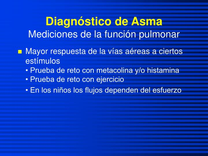 Diagnóstico de Asma