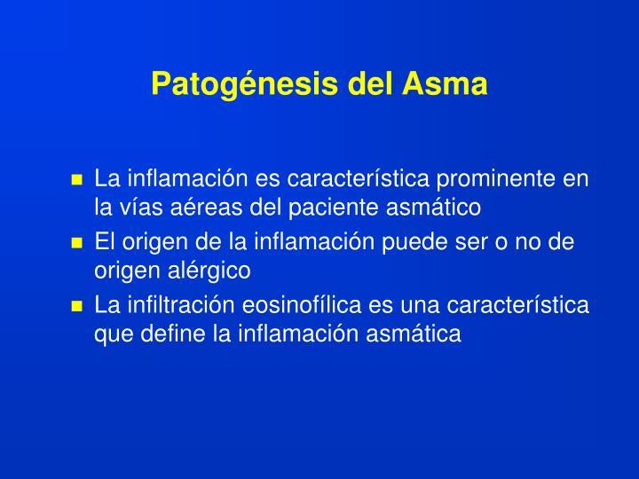 Patogénesis del Asma