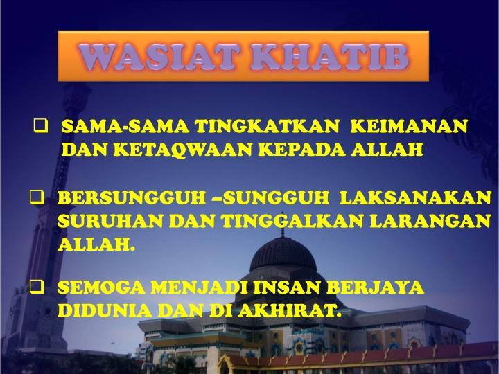 WASIAT KHATIB