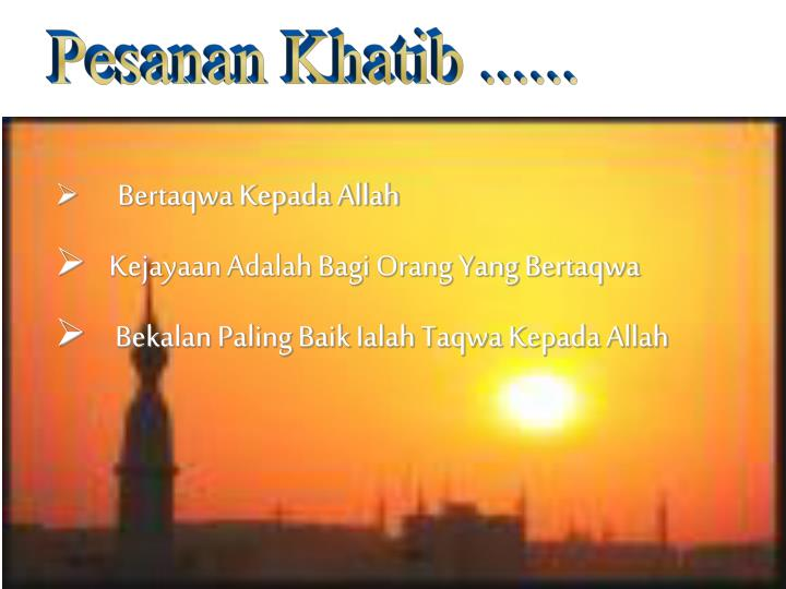 Pesanan Khatib ......