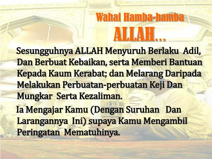 Wahai Hamba-hamba