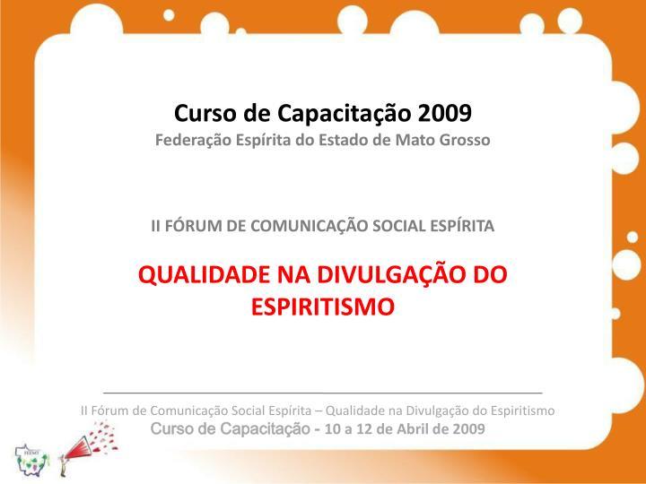 Curso de Capacitação 2009