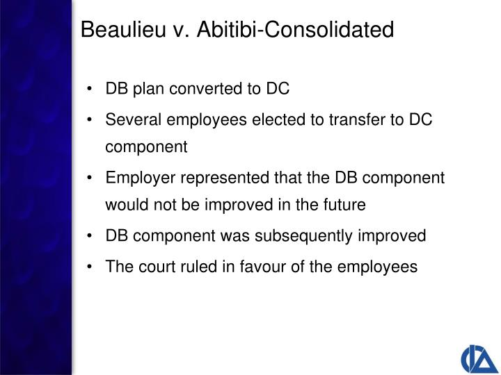 DB plan converted to DC