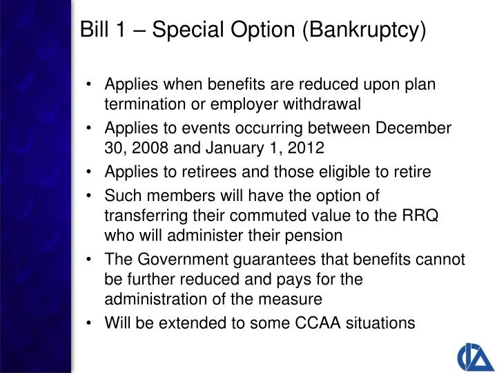 Applies when benefits are reduced upon plan termination or employer withdrawal