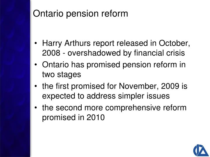 Harry Arthurs report released in October, 2008 - overshadowed by financial crisis