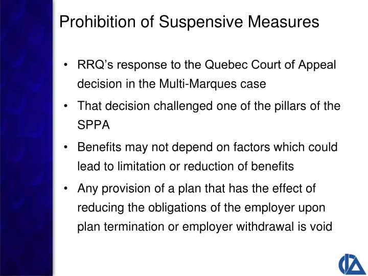 RRQ's response to the Quebec Court of Appeal decision in the Multi-Marques case